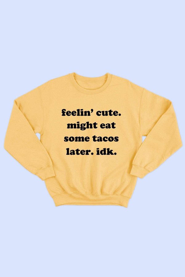 Feelin Cute Graphic Sweatshirt