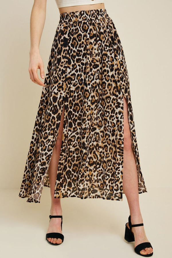 Natural Attraction Leopard Skirt