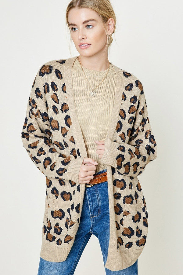 On the Spot Leopard Knit Cardigan