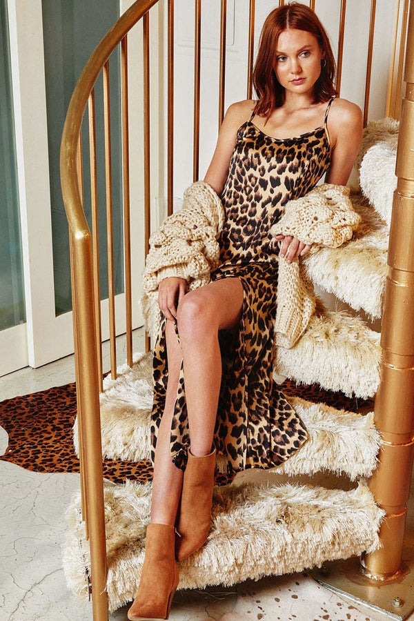Do Tail Leopard Midi Dress