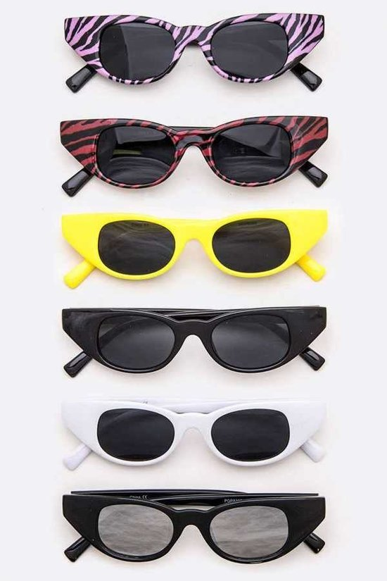 Classic Skinny Cat Eye Sunglasses