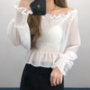 Shirred Bardot Top