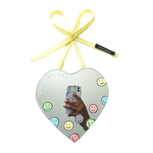 Joy - Good Vibes Only Heart Shaped (Positivity) Mirror