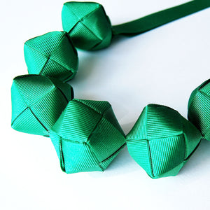 The Naomi Original (in Emerald Green) chunky statement necklace