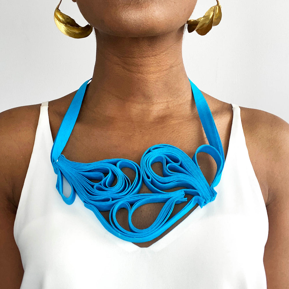 The Adele Originals (Bright Blue) chunky statement necklace
