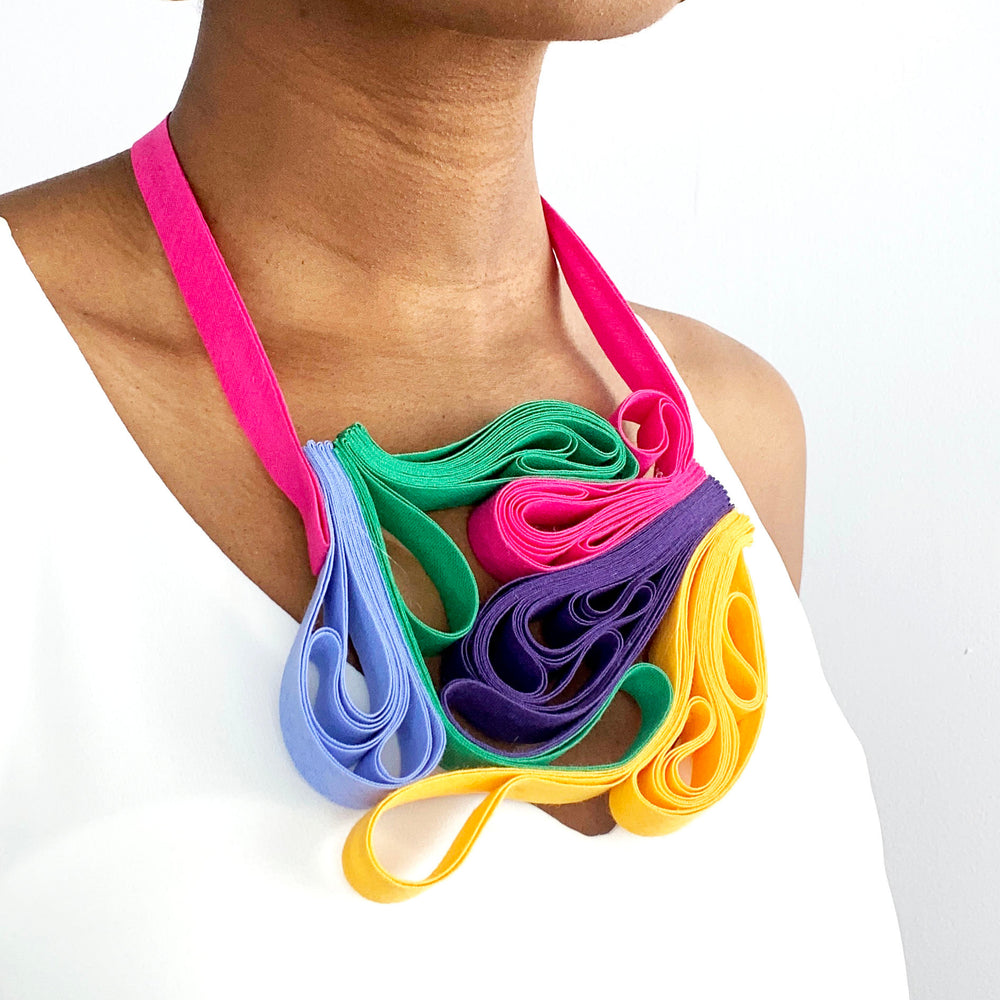 Load image into Gallery viewer, The Adele  Mix (Colour Pop) chunky statement necklace