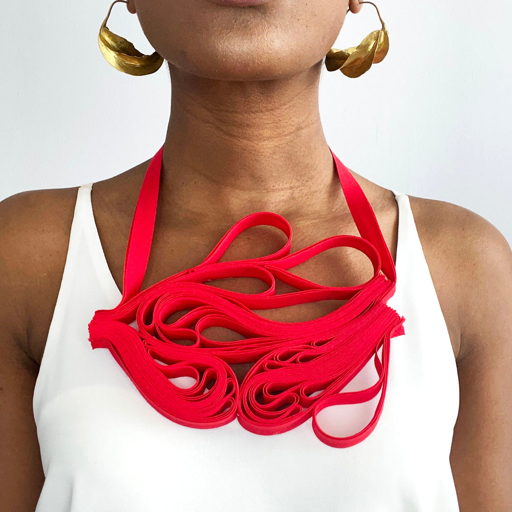 The Adele Originals (Red) chunky statement necklace