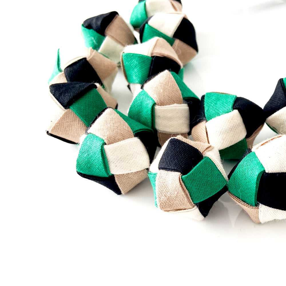 The Eve in Green - chunky statement necklace