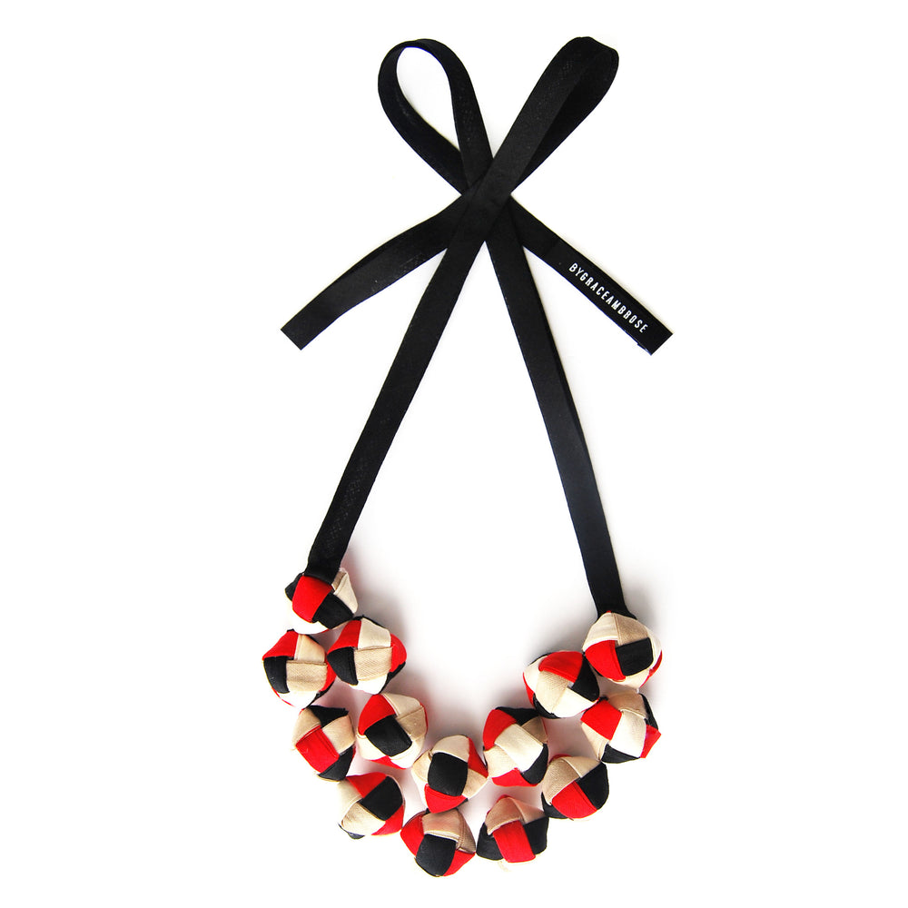The Eve in Red - chunky statement necklace