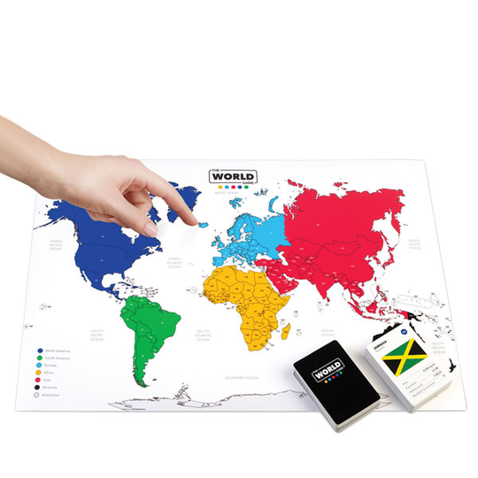 World map geography board game for kids