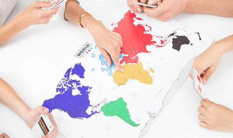 The world game geography map