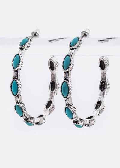 Hoop N Holler Turquoise Earrings