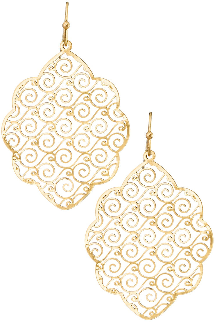 Swirl Me Around Drop Earrings