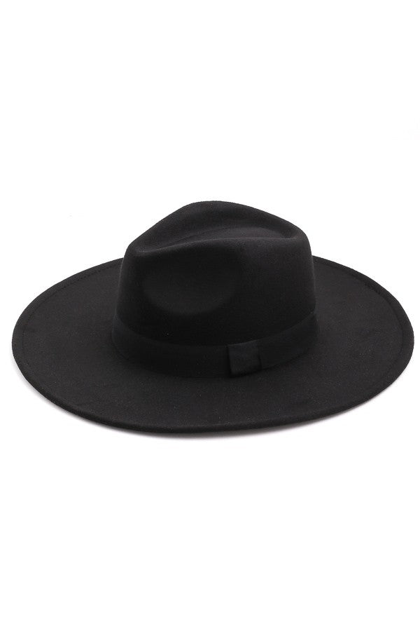 Wide Brim Hat In Black