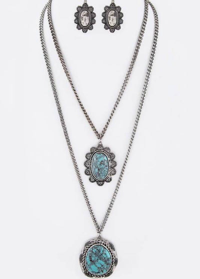 Turquoise Treasure Double Necklace