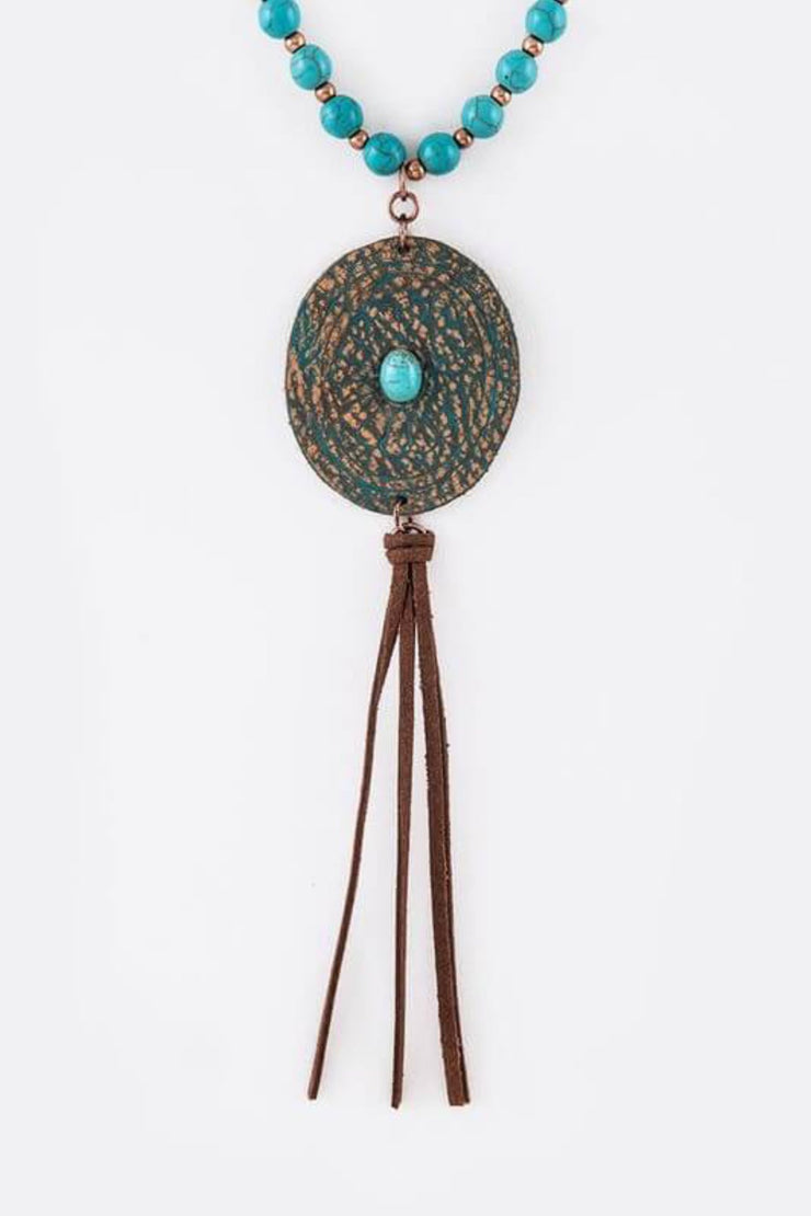 Wear Me Out Necklace In Turquoise