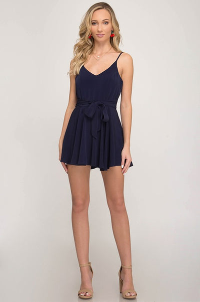 On Your Mind Navy Romper