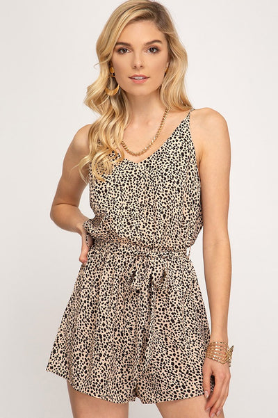 Wild About You Leopard Print Romper