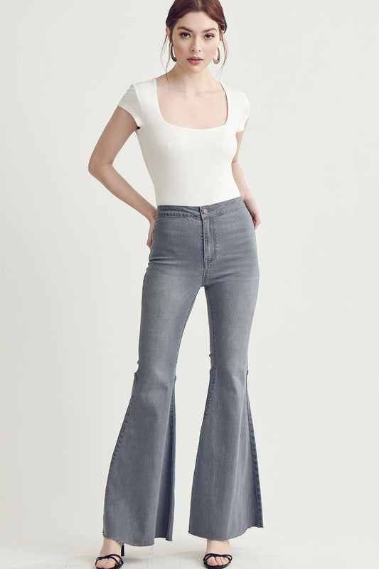Making Changes Charcoal Flare Jeans