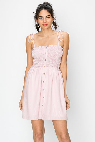 So Darling Babydoll Dress In Pink