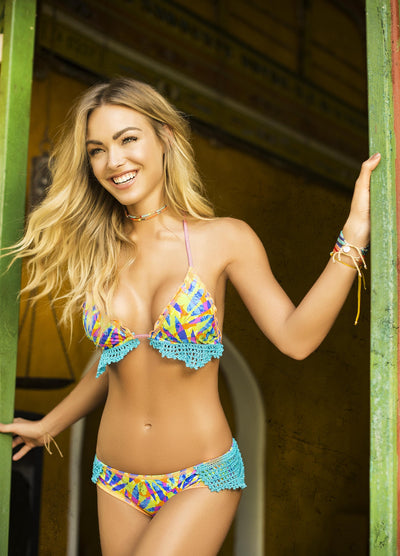 Somewhere Tropical Bikini Top