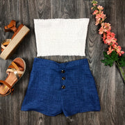 Cute Casual Shorts In Denim