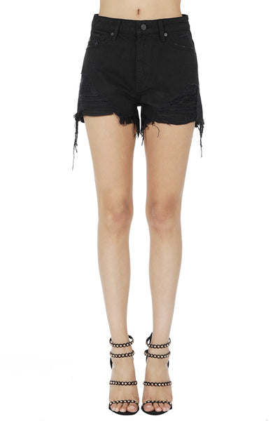 Reckless Distressed denim Shorts In Black