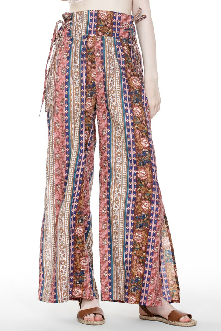 Rustic Wide Leg Boho Pants