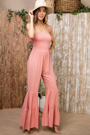 Back In Town Coral Jumpsuit