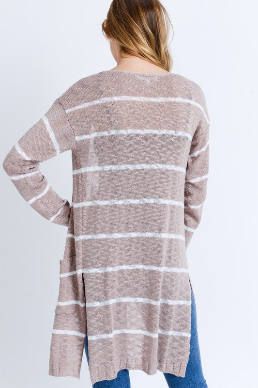 Secret Keeper Cardigan In Light Mauve