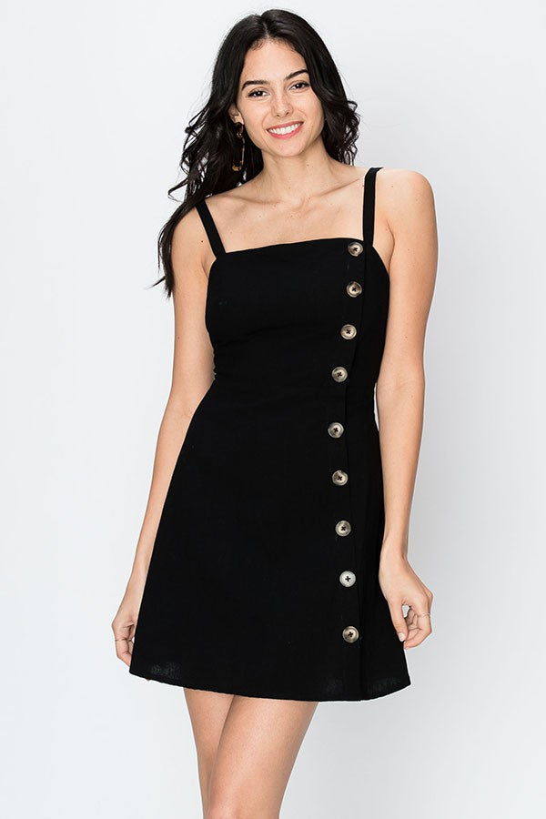 On Edge Mini Dress In Black