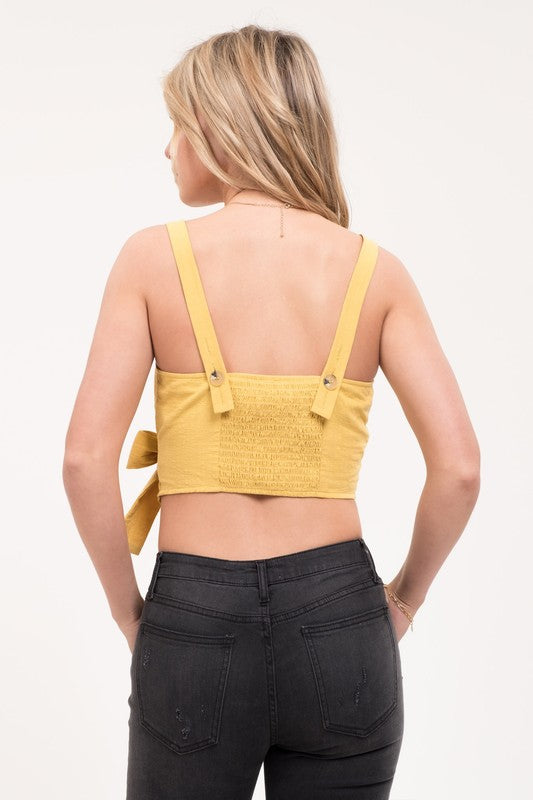 New In Town Wrap Top In Mustard