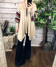 Make It Casual Top In Taupe