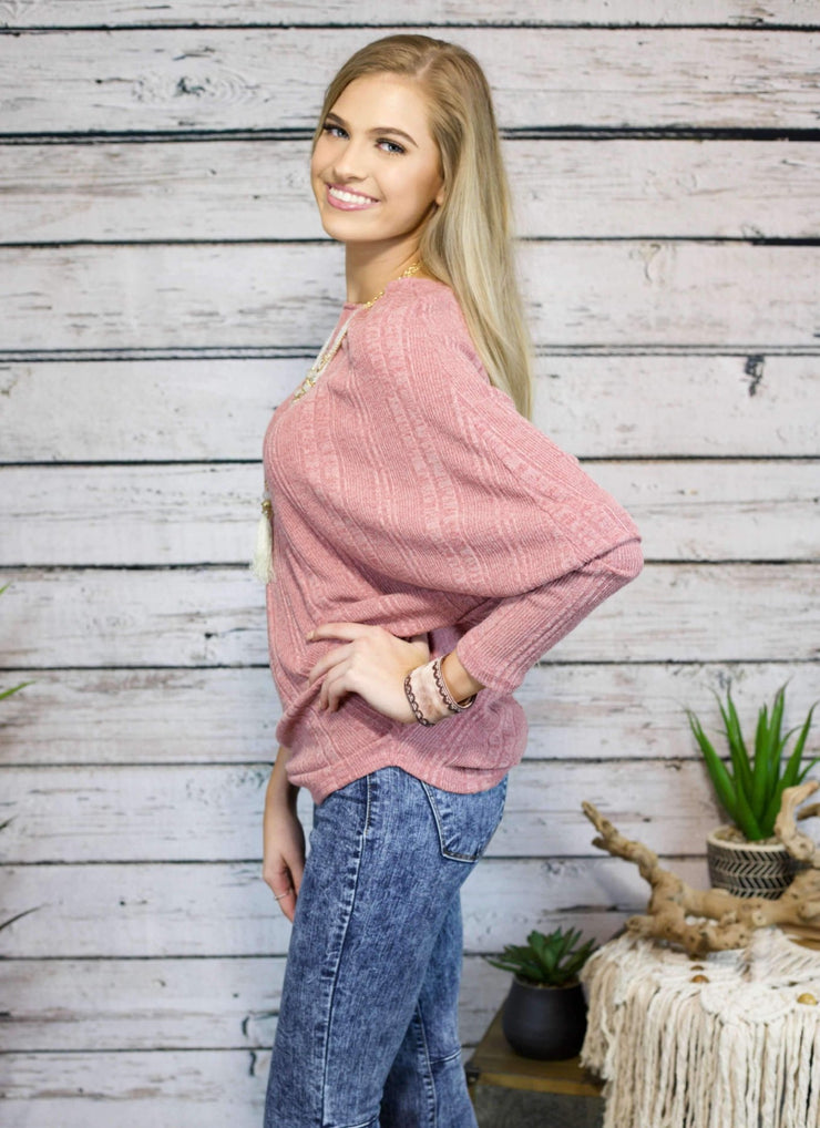 Cozy Crimson Top