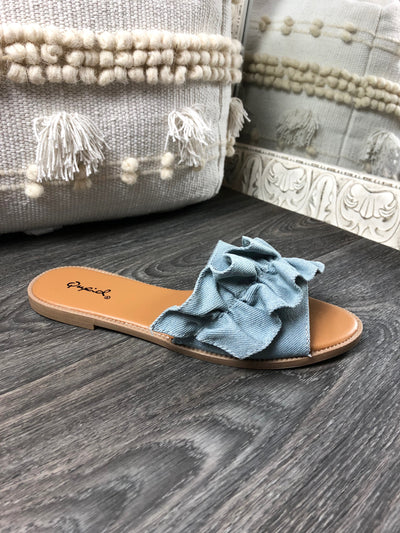 Step This Way Sandal in Light Denim