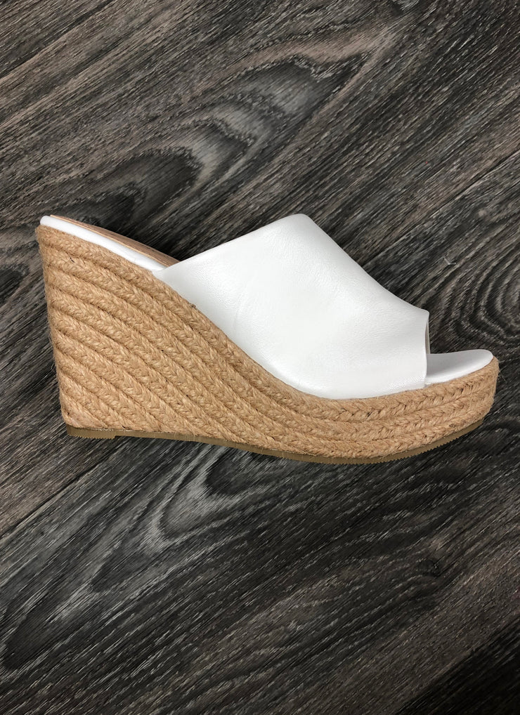 Gives You Butterflies Espadrille in White