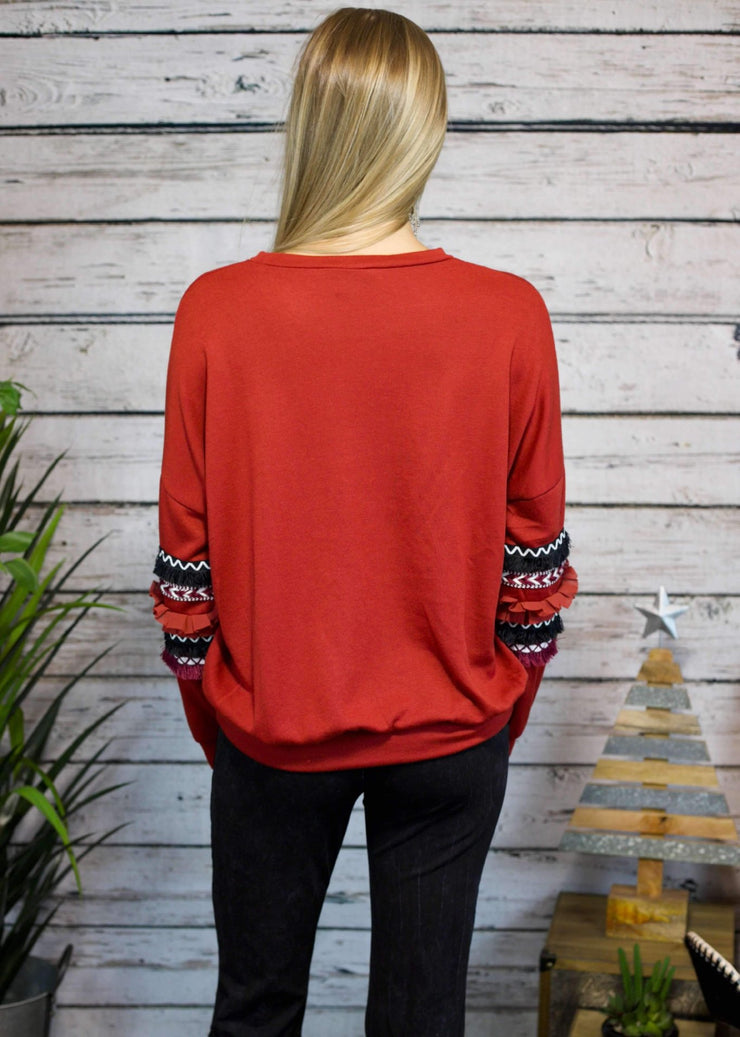Hey Santa Pullover In Red