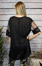 I See Dots Knit Tunic In Black