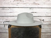 Wide Brim Hat In Grey