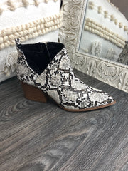 Wild One Snakeskin Booties