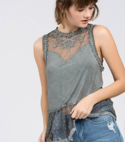 Daydream Top In Charcoal