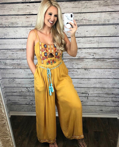 Sunshine Embroidered Jumpsuit