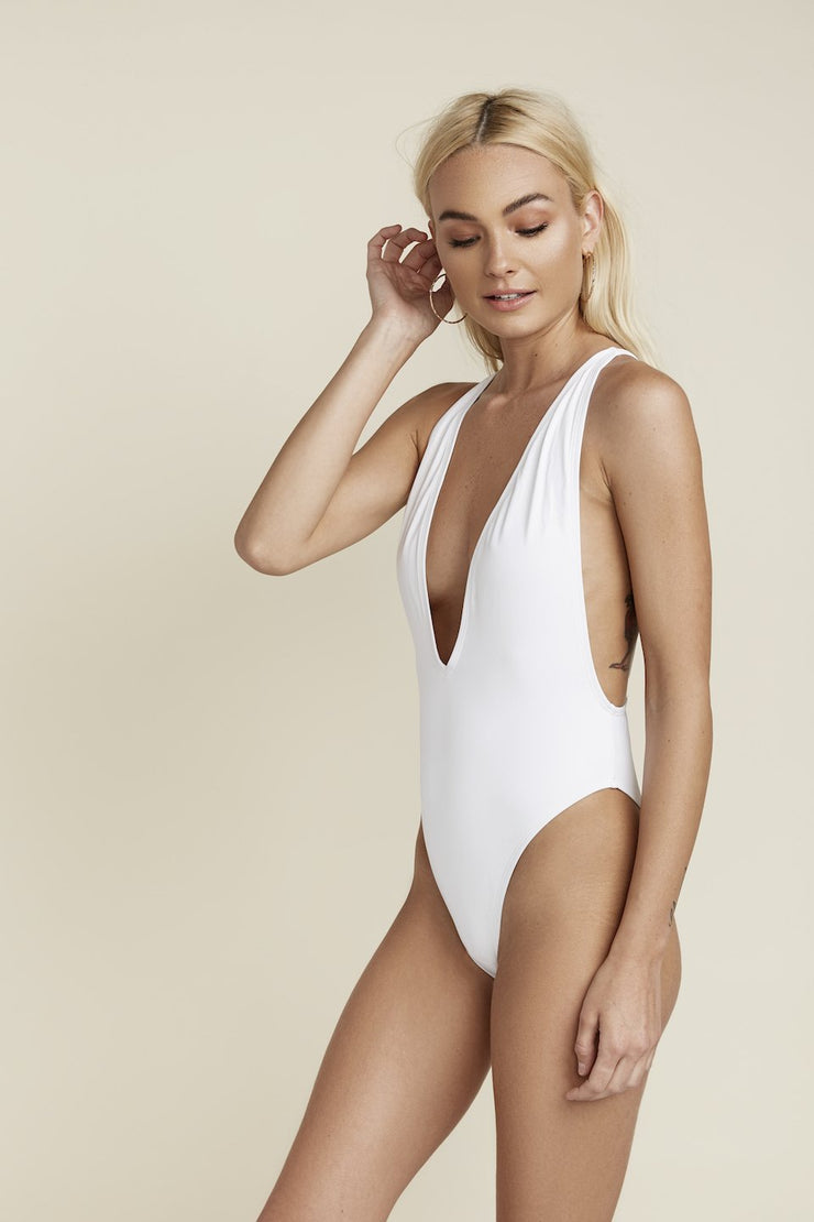 Low V-Neck One Piece