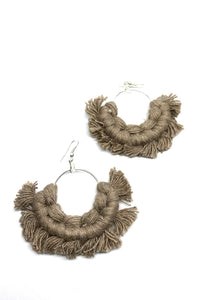 Macrame Fan Earrings