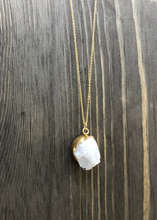 Moonstone Nugget Necklace