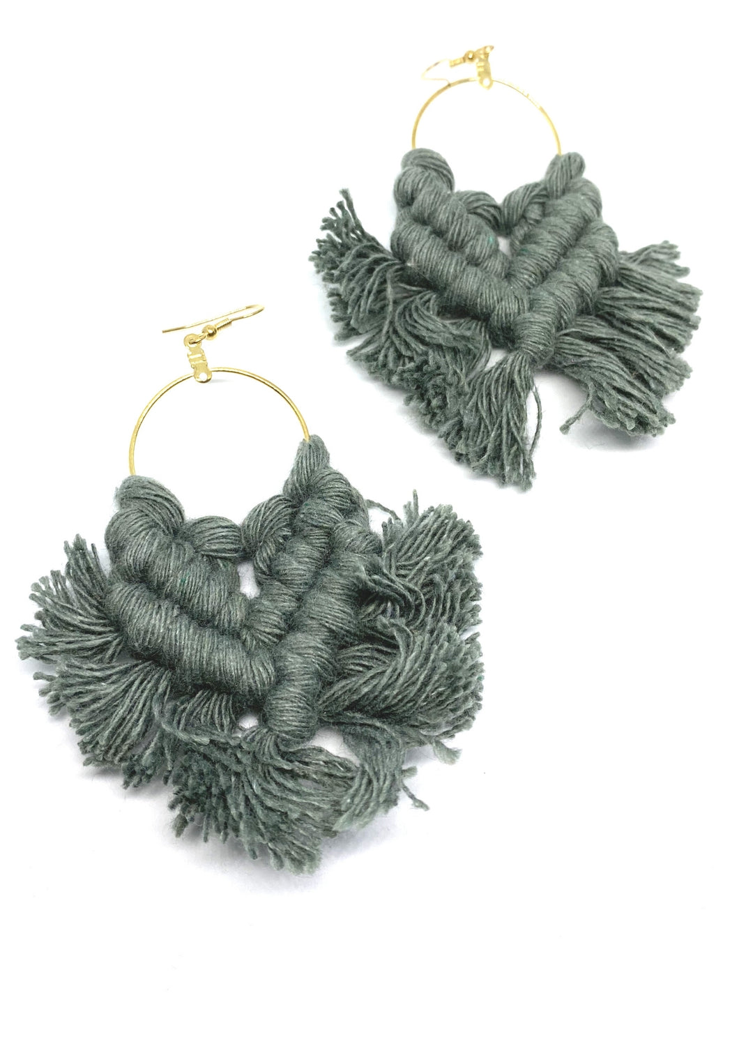 Macrame Hoop Earrings