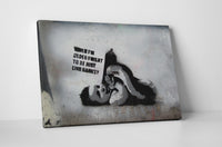 Banksy Banksy Baby Canvas Wall Art