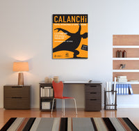 Vintage Ad Poster Calanchi Canvas Wall Art