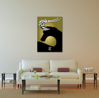 Zodiac Sign Capricorn Canvas Wall Art