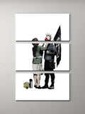 Banksy Anarchist and Mother Triptych Canvas Wall Art